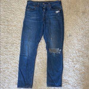 Levi's 501 Medium Waist Skinny Jeans
